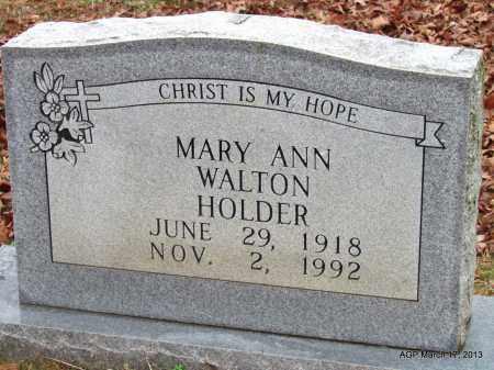 WALTON HOLDER, MARY ANN - Grant County, Arkansas   MARY ANN WALTON HOLDER - Arkansas Gravestone Photos