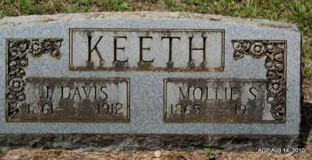 KEETH, J DAVIS - Grant County, Arkansas | J DAVIS KEETH - Arkansas Gravestone Photos