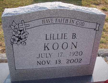 KOON, LILLIE B - Grant County, Arkansas | LILLIE B KOON - Arkansas Gravestone Photos