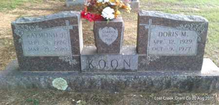 KOON, DORIS M - Grant County, Arkansas | DORIS M KOON - Arkansas Gravestone Photos