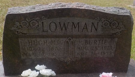 LOWMAN, HUGH M - Grant County, Arkansas | HUGH M LOWMAN - Arkansas Gravestone Photos