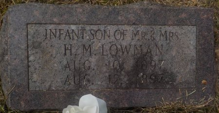 LOWMAN, INFANT SON - Grant County, Arkansas | INFANT SON LOWMAN - Arkansas Gravestone Photos