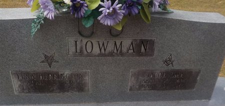 HERRINGTON LOWMAN, LENA - Grant County, Arkansas | LENA HERRINGTON LOWMAN - Arkansas Gravestone Photos
