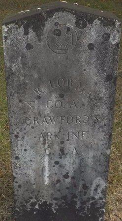 LOWMAN (VETERAN CSA), A R - Grant County, Arkansas | A R LOWMAN (VETERAN CSA) - Arkansas Gravestone Photos