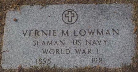 LOWMAN (VETERAN WWI), VERNIE M - Grant County, Arkansas | VERNIE M LOWMAN (VETERAN WWI) - Arkansas Gravestone Photos