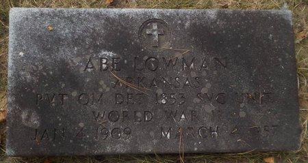 LOWMAN (VETERAN WWII), ABE - Grant County, Arkansas | ABE LOWMAN (VETERAN WWII) - Arkansas Gravestone Photos