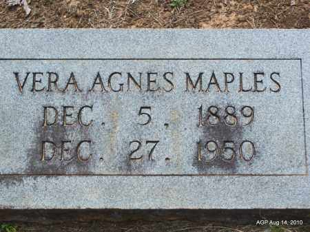 MAPLES, VERA AGNES - Grant County, Arkansas   VERA AGNES MAPLES - Arkansas Gravestone Photos