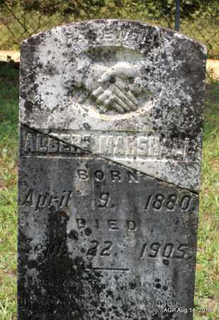 MARSHALL, ALBERT - Grant County, Arkansas   ALBERT MARSHALL - Arkansas Gravestone Photos