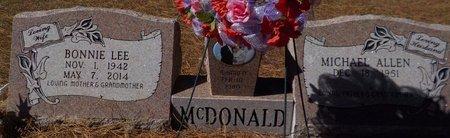 MCDONALD, BONNIE LEE - Grant County, Arkansas | BONNIE LEE MCDONALD - Arkansas Gravestone Photos