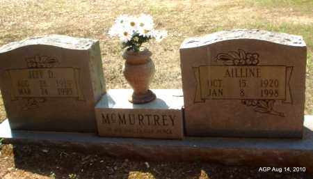 MCMURTREY, AILINE - Grant County, Arkansas | AILINE MCMURTREY - Arkansas Gravestone Photos
