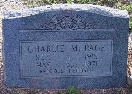 PAGE, CHARLIE M - Grant County, Arkansas | CHARLIE M PAGE - Arkansas Gravestone Photos
