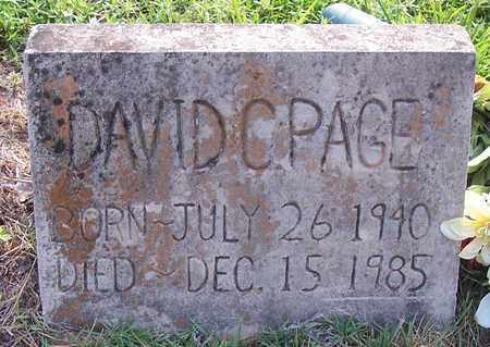 PAGE, DAVID C - Grant County, Arkansas | DAVID C PAGE - Arkansas Gravestone Photos