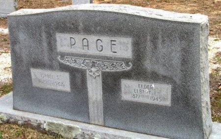 PAGE, ELBERT L. - Grant County, Arkansas | ELBERT L. PAGE - Arkansas Gravestone Photos