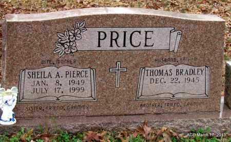 PIERCE PRICE, SHEILA A - Grant County, Arkansas | SHEILA A PIERCE PRICE - Arkansas Gravestone Photos
