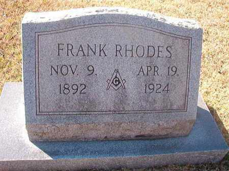RHODES, FRANK - Grant County, Arkansas | FRANK RHODES - Arkansas Gravestone Photos