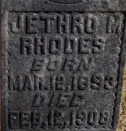 RHODES, JETHRO MILTON (CLOSE UP) - Grant County, Arkansas   JETHRO MILTON (CLOSE UP) RHODES - Arkansas Gravestone Photos