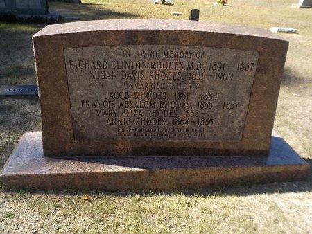RHODES, ANNIE - Grant County, Arkansas   ANNIE RHODES - Arkansas Gravestone Photos
