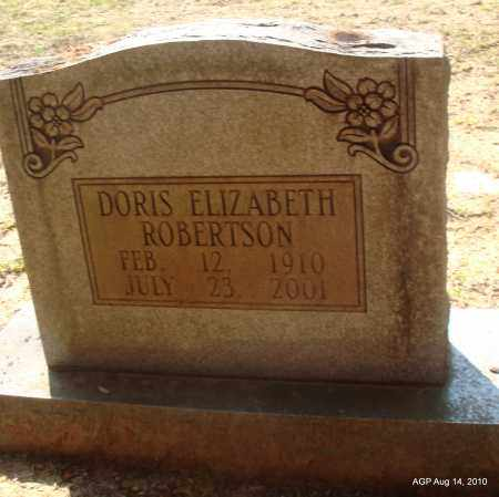 ROBERTSON, DORIS ELIZABETH - Grant County, Arkansas | DORIS ELIZABETH ROBERTSON - Arkansas Gravestone Photos