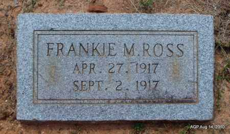 ROSS, FRANKIE M - Grant County, Arkansas | FRANKIE M ROSS - Arkansas Gravestone Photos