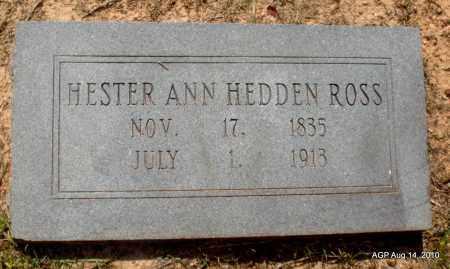 HEDDEN ROSS, HESTER ANN - Grant County, Arkansas | HESTER ANN HEDDEN ROSS - Arkansas Gravestone Photos