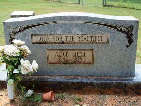SHELL, ALICE - Grant County, Arkansas | ALICE SHELL - Arkansas Gravestone Photos