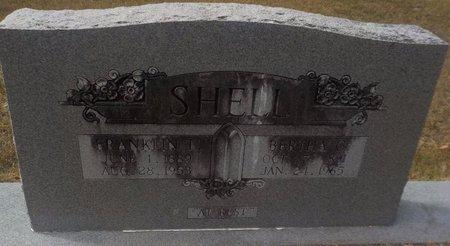 SHELL, FRANKLIN T - Grant County, Arkansas | FRANKLIN T SHELL - Arkansas Gravestone Photos