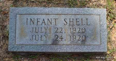 SHELL, INFANT - Grant County, Arkansas | INFANT SHELL - Arkansas Gravestone Photos