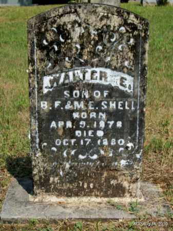 SHELL, WALTER E - Grant County, Arkansas | WALTER E SHELL - Arkansas Gravestone Photos