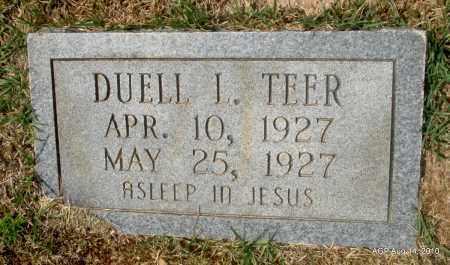 TEER, DUELL L - Grant County, Arkansas   DUELL L TEER - Arkansas Gravestone Photos