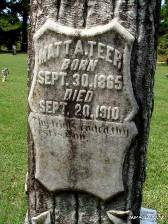 TEER, MATT A (CLOSE UP) - Grant County, Arkansas   MATT A (CLOSE UP) TEER - Arkansas Gravestone Photos