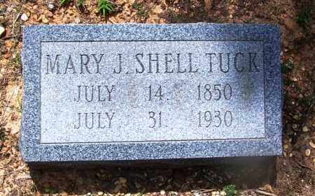 SHELL TUCK, MARY J - Grant County, Arkansas | MARY J SHELL TUCK - Arkansas Gravestone Photos