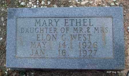 WEST, MARY ETHEL - Grant County, Arkansas | MARY ETHEL WEST - Arkansas Gravestone Photos