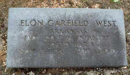 WEST (VETERAN WWI), ELON GARFIELD - Grant County, Arkansas | ELON GARFIELD WEST (VETERAN WWI) - Arkansas Gravestone Photos
