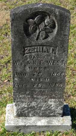 WEST, ZENIA I - Grant County, Arkansas   ZENIA I WEST - Arkansas Gravestone Photos
