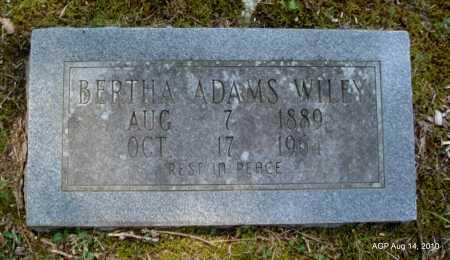 ADAMS WILEY, BERTHA - Grant County, Arkansas | BERTHA ADAMS WILEY - Arkansas Gravestone Photos