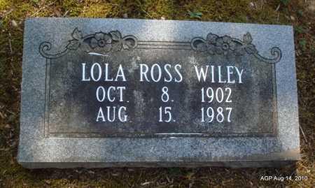 WILEY, LOLA - Grant County, Arkansas | LOLA WILEY - Arkansas Gravestone Photos