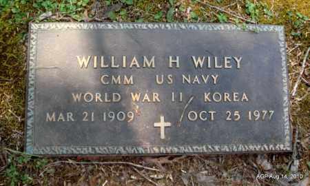 WILEY (VETERAN 2 WARS), WILLIAM H - Grant County, Arkansas | WILLIAM H WILEY (VETERAN 2 WARS) - Arkansas Gravestone Photos