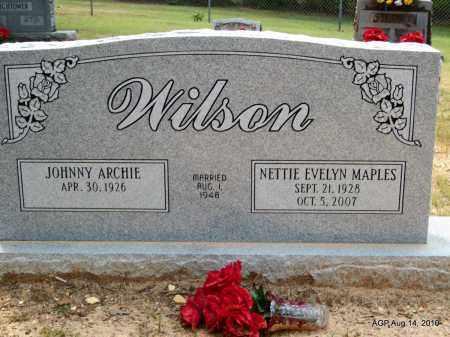 MAPLES WILSON, NETTIE EVELYN - Grant County, Arkansas | NETTIE EVELYN MAPLES WILSON - Arkansas Gravestone Photos