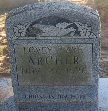 WHITE ARCHER, LOVEY FAYE - Greene County, Arkansas | LOVEY FAYE WHITE ARCHER - Arkansas Gravestone Photos