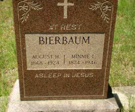 BIERBAUM, AUGUST H - Greene County, Arkansas | AUGUST H BIERBAUM - Arkansas Gravestone Photos