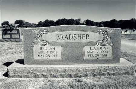 BRADSHER, L.A.(DON) - Greene County, Arkansas | L.A.(DON) BRADSHER - Arkansas Gravestone Photos
