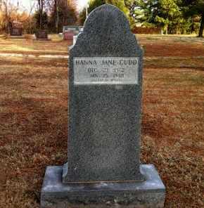 CUDD, HANNA JANE - Greene County, Arkansas | HANNA JANE CUDD - Arkansas Gravestone Photos