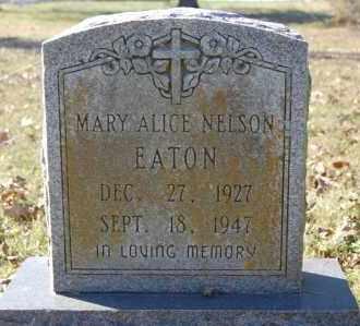 NELSON EATON, MARY ALICE - Greene County, Arkansas | MARY ALICE NELSON EATON - Arkansas Gravestone Photos