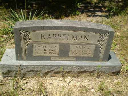 KAPPELMAN, JOHN F - Greene County, Arkansas   JOHN F KAPPELMAN - Arkansas Gravestone Photos