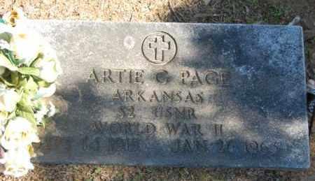 PAGE (VETERAN WWII), ARTIE G - Greene County, Arkansas   ARTIE G PAGE (VETERAN WWII) - Arkansas Gravestone Photos