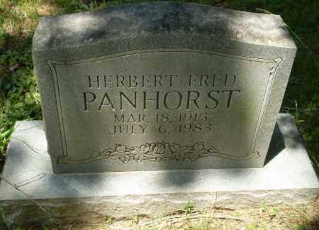 PANHORST, HERBERT FRED - Greene County, Arkansas   HERBERT FRED PANHORST - Arkansas Gravestone Photos