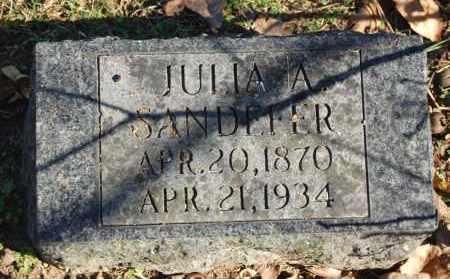 SANDEFER, JULIA A. - Greene County, Arkansas | JULIA A. SANDEFER - Arkansas Gravestone Photos