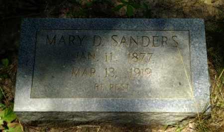 SANDERS, MARY D - Greene County, Arkansas   MARY D SANDERS - Arkansas Gravestone Photos