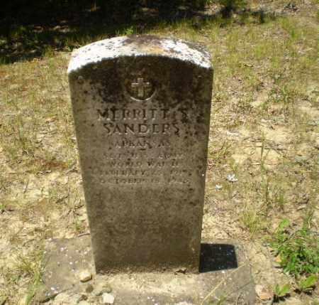 SANDERS (VETERAN WWII), MERRITT S - Greene County, Arkansas   MERRITT S SANDERS (VETERAN WWII) - Arkansas Gravestone Photos