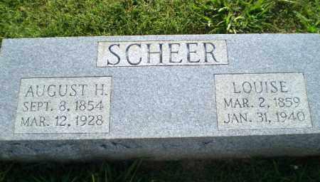 SCHEER, AUGUST H - Greene County, Arkansas | AUGUST H SCHEER - Arkansas Gravestone Photos